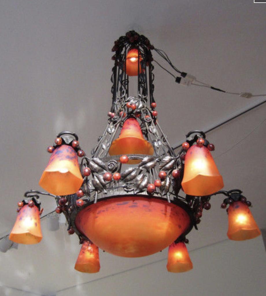 Unique Charles Schneider lamp
