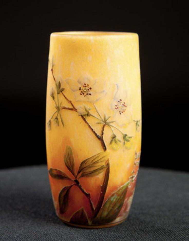 Daum flower vase