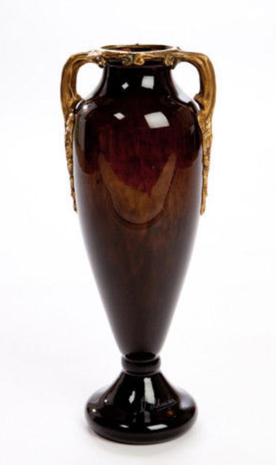 Vase Schneider with bronze mount