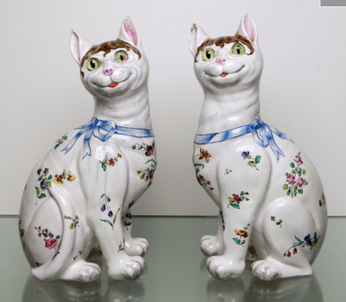 Pair of Galle cats