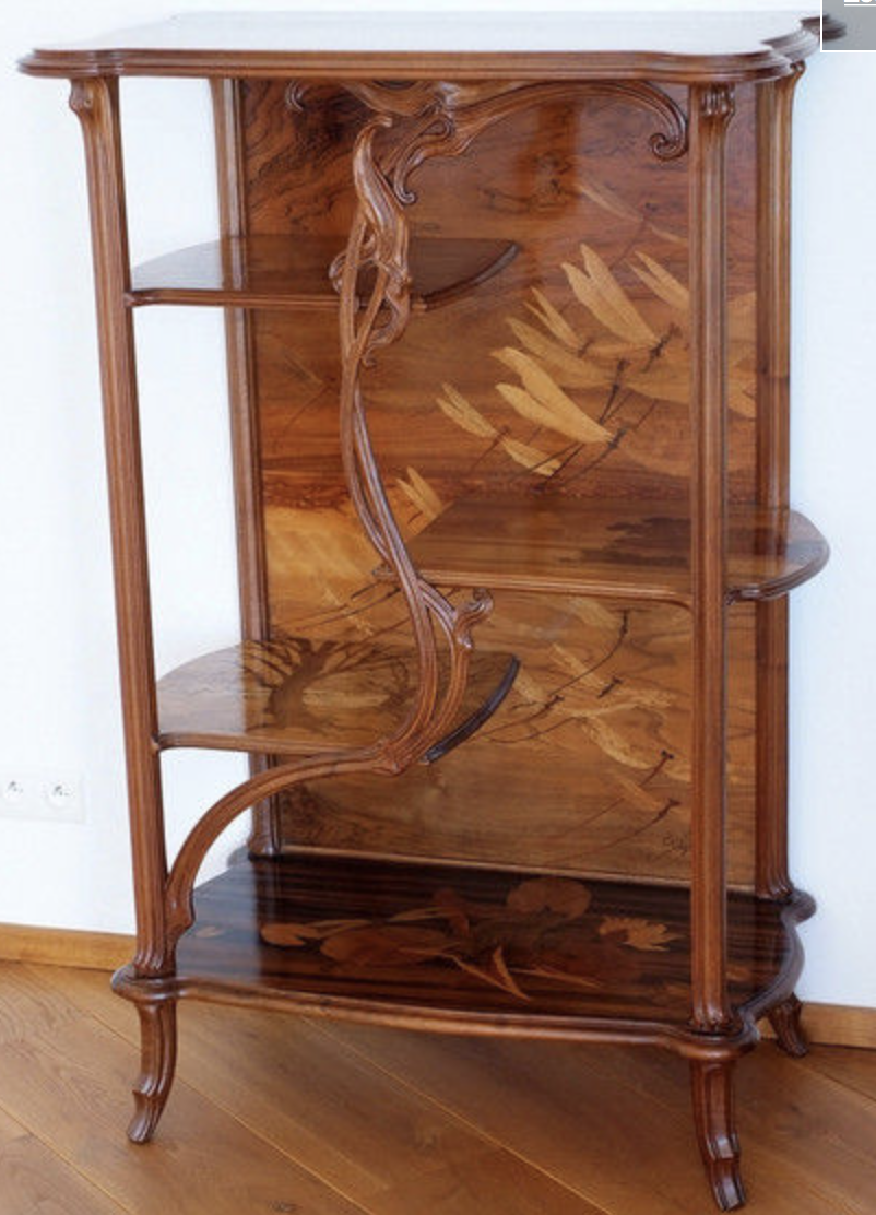 Etagere with dragonflies by Emile Galle
