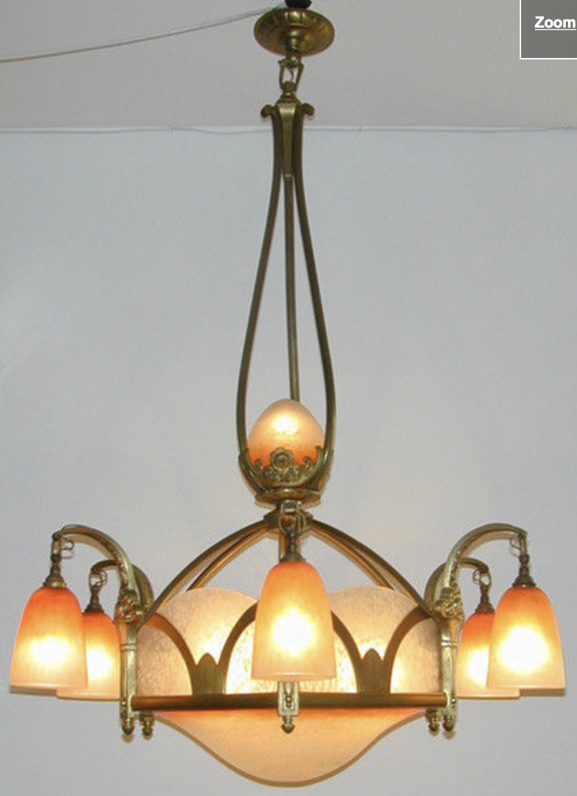 Rare chandelier by Schneider