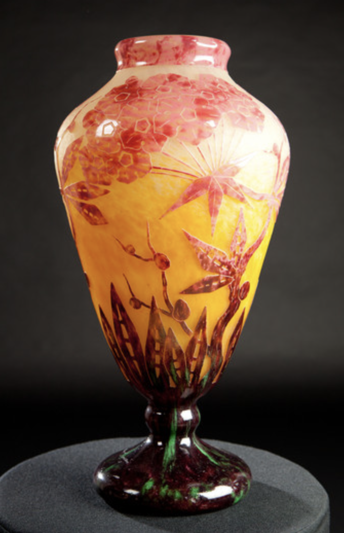 le verre francais vase Phlox