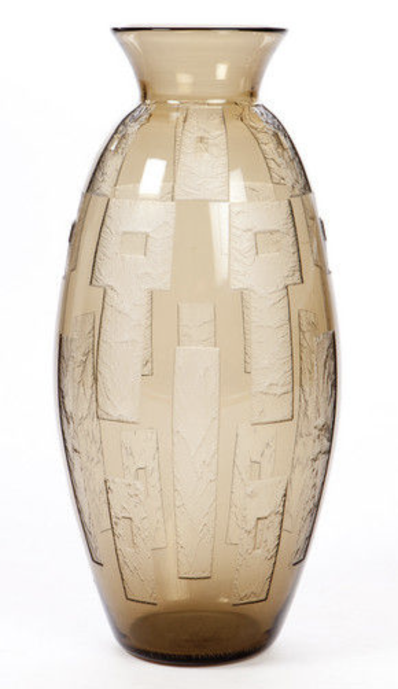 Ovoid large Daum art deco vase